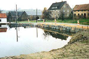 Rekonstruktion einer Teichanlage in Arnsdorf / Sachsen
